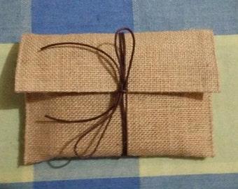 Burlap Envelope
