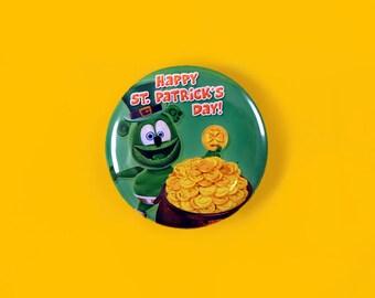 Pot of Gold Gummibär (The Gummy Bear) Saint Patrick's Day Button