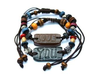 Couples Bracelet, Custom Bracelet, Personalized Bracelet