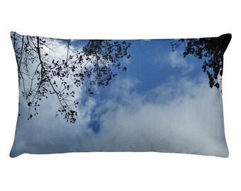 Sky and Tree - Rectangular Pillow