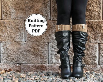 KNITTING PATTERN | Boot Cuff Pattern | Instant Download PDF | Knitted Boot Cuffs | Boot toppers Knitting Pattern | Knitting tutorial