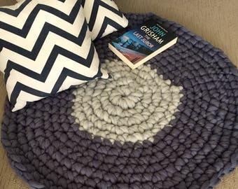 Chunky crochet rugs