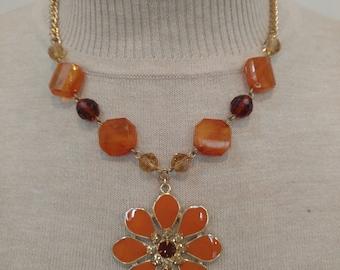 Topaz Sunflower Necklace
