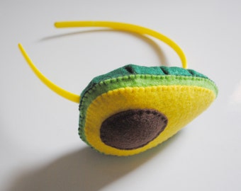 Cute Avocado Headband - Felt Plush Accessory