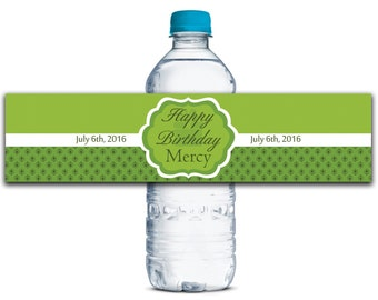 Custom Water Bottle Labels, Waterproof Labels Stickers, Birthday Party Stickers, Personalized Labels, Kids Birthday Party Labels WBL114P
