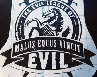 Dr. Horrible / Evil League of Evil Vinyl Decal