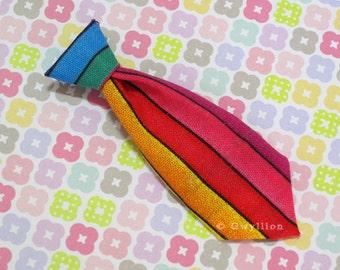 Unisex Mini Tie Rainbow Necklace Pin