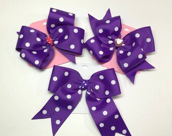 Purple Dot Boutique Hair Bows, Hair Bows For Girls, Hair Clips, Girls Hair Bows, Hair Accessories,