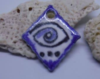 Eye Pendant Charm Ceramic Bead #859