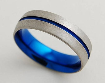 Orion Band with Comfort Fit , Mens Wedding Band , Titanium Ring , Wedding Band , Mens Promise Ring
