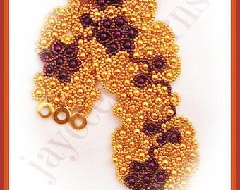 Bead Tutorial - Spanish Rose Bracelet Pattern - Netting stitch