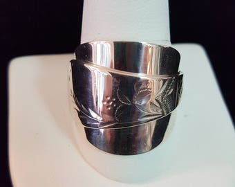 Sterling Silver Handcrafted Spoon Ring