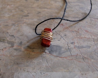 Wire Wrapped Red Agate