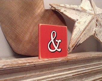 personalised letter blocks, initials, wooden letters, monograms, letter &,  10cm square, hand painted