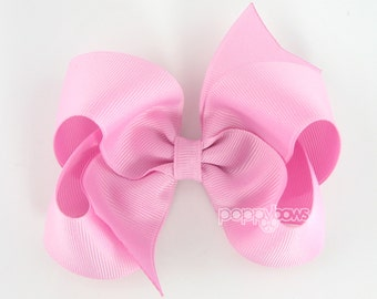Girls Hair Bows, orchid pink hair bow, 4 inch hair bows, big hair bows, boutique bows, large hair bows, girl hair bows, toddler hairbow