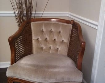 Price Reduction was 150.00 Vintage Mid Century Modern Cane Chair 60s 70s