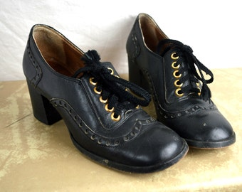 RARE Vintage 60s 70s Amazing Chunky Shoes - Grungies