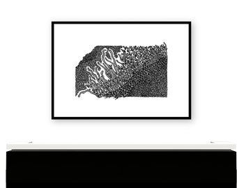 Under the Ocean Floor Print