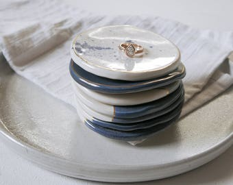Ring Dish; Handmade Pottery; Ceramic Ring Dish; Gift for Her; Small Plate; Small Pottery Dish; Ring Holder