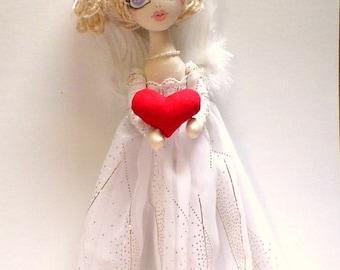 ANGEL DOLL Art Doll, cloth dolls, original handmade doll,ooak, heirloom dolls, collectors, unique gift for her, fantasy, CHARITY