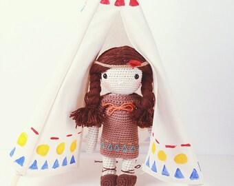 Crochet doll - Little squaw