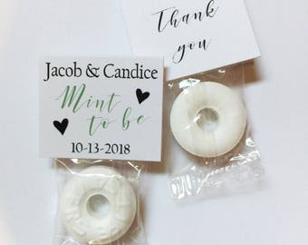 40 Mint to be wedding favors - guest party favors