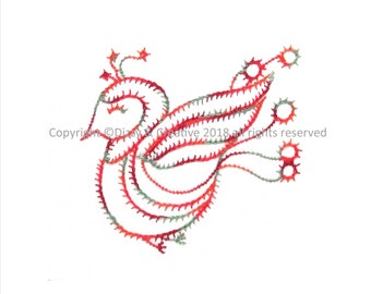 Embroidery in 2 Stitch Steps - Sparky