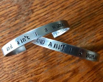Sojourner Quote Cuff Bracelet