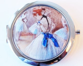 Degas, Ballerina, compact mirror, purse mirror, humor, funny saying, french painting, gift for her (2079)