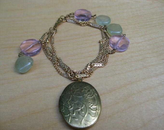 Insouciant Studios Frolic Bracelet Vintage Chain and Locket