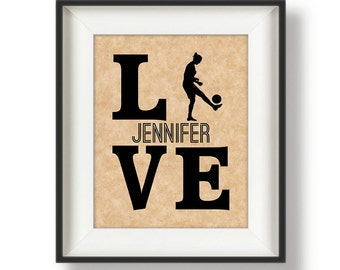Personalized Soccer Gifts - Gifts for Soccer Players - Soccer Art - Soccer Team Gifts - Soccer Gifts for Him - Soccer Gifts for Her