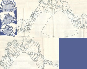 Southern Belle - Crinoline Lady pillowcase applique& embroidery pattern mo7266
