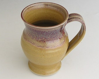 Made to Order...Large Mug in Honey and Red