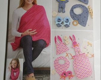 Simplicity Sewing Pattern 8312 Knit Baby Gifts and Nursing Shawl