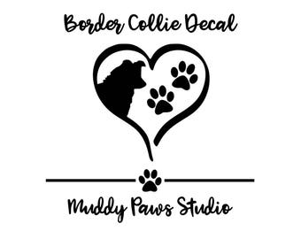 Personalized Border Collie Decal, Custom Border Collie Decal, Border Collie, Border Collie Decal, Collie Sticker, Dog Decal, Custom Decal