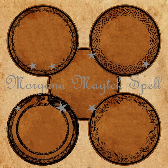 """1.5"""" Round Apothecary Labels  - Printable"""
