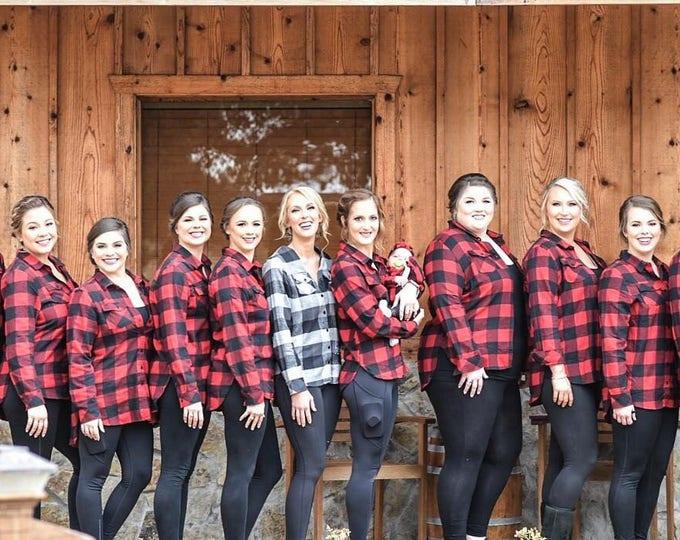 Monogrammed Flannel Shirts, Monogram Buffalo Plaid Flannel Shirts, Monogrammed Shirt, Bridesmaid Gift, Flannel Shirt, Bridesmaid Gift