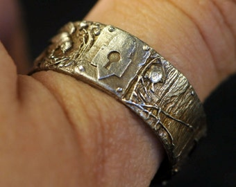 Secret Places Ring in sterling silver