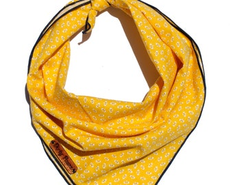 Poppy Seeds Dog Bandana / Yellow Dog Bandana