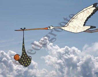 Card, Stork