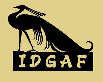 "Adult Language,IDGAF SIGN, Metal Art, Wall Decor, Approximate Size: 12 1/4"" w x 9 1/2"" h"