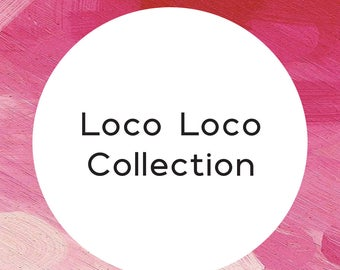 "Handmade statement stud earrings // gifts for her // ""Loco loco"""