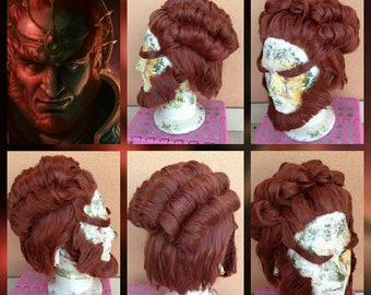 Ganondorf wig+eyebriws+beard  cosplay costume legend of Zelda