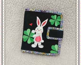 Bunny Rabit Wallet, Small Womens Wallet, Rabbit Wallet,Wallets For Women, Credit Card Wallet, Mini Wallet-Lavender Handmade