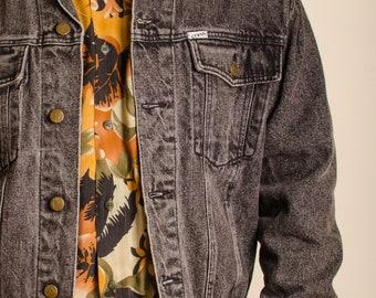 80s Guess Black Vintage Denim Jacket