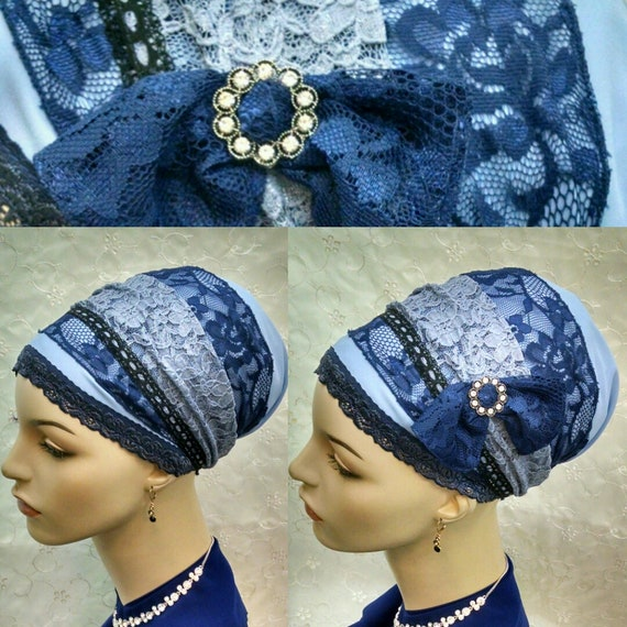 NEW***Gorgeous violet lace sinar tichel, tichels, head wraps, hair covering, chemo scarf, head scarves, hair snood, Jewish, women, mitpachat