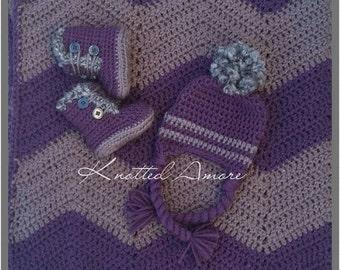 Crochet baby hat and boots, crochet baby blanket, Hat & Boot Set, baby booties, baby boots, Baby girl set, Baby shower gift, custom crochet