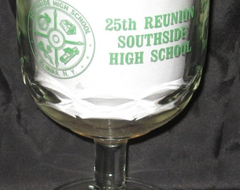 Vintage 25th Reunion Southside High School Elmira Ny Glass