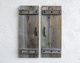 Rustic Shutters. Set of 2. Wooden Door Shutters. Rustic Barn Doors. Farmhouse Decor. Shutters Wall Decors.  Farmhoouse Shutters. L