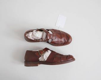 men's fisherman sandals | brown leather sandals 10.5 | mens sandals 11